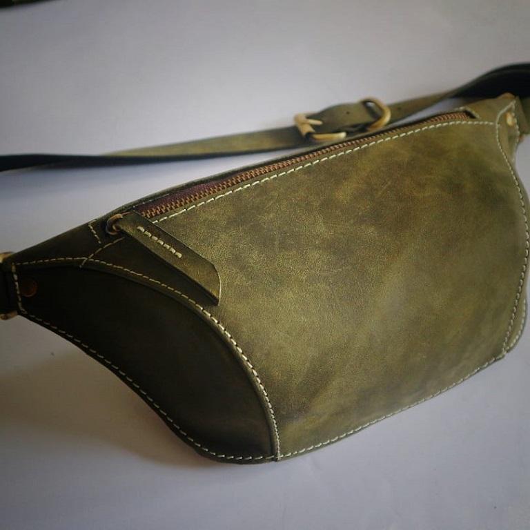 Genuine Leather Waist Bag ( Aluna Creativity )